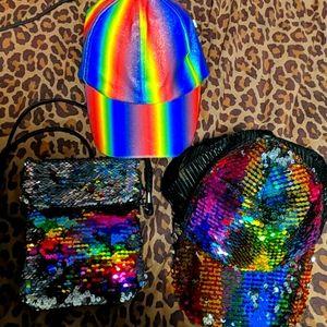 Rainbow Purse and Hats (set)